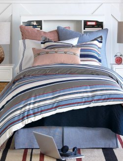 Harbor Stripes Nautical Bedding Collection