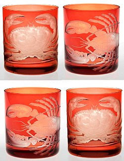 Crab & Lobster Bohemian Crystal Barware