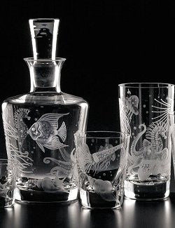 Fruti di Mare Bohemian Hand-Engraved Crystal Collection