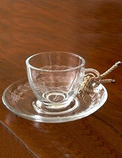 Giovanna Locatelli Engraved Glass Espresso Sets