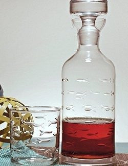 Engraved Fish Liquor Decanter