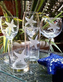 Starfish Garden Coastal Glassware