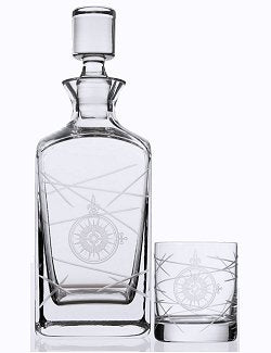 Navigator Compass Rose Whiskey Set