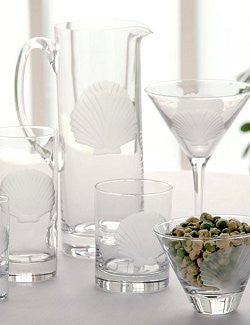Etched Shell Barware Collection