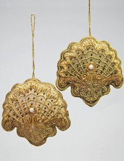 Victorian Beaded Shell Ornaments