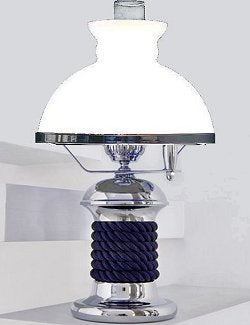 nautical winch design lamp with glass shade