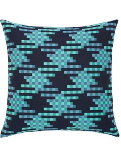 Quilted Cobalt Pixel Sunbrella® Outdoor Pillows