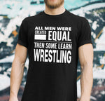ALL MEN, LEARN WRESTLING Gift For Coach, Team * Short-Sleeve T-Shirt - ArtsyMod.com