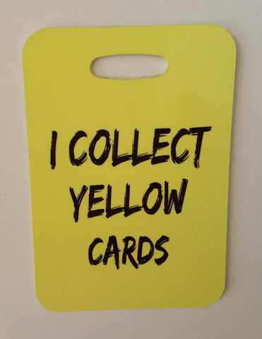 SOCCER Bag tag, I collect yellow cards, soccer gift Luggage Tag - FlipTurnTags