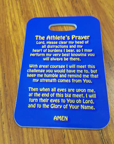 An Athlete's Prayer Swim Bag Tag - FlipTurnTags