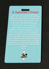 Swimmer's Athlete Prayer Bag Tag - FlipTurnTags