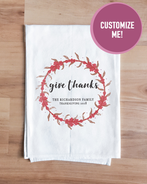 Customizable Give Thanks Towel
