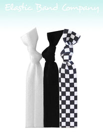 Checker B&W Hair Tie 3 Pack - Elastic Band Co.