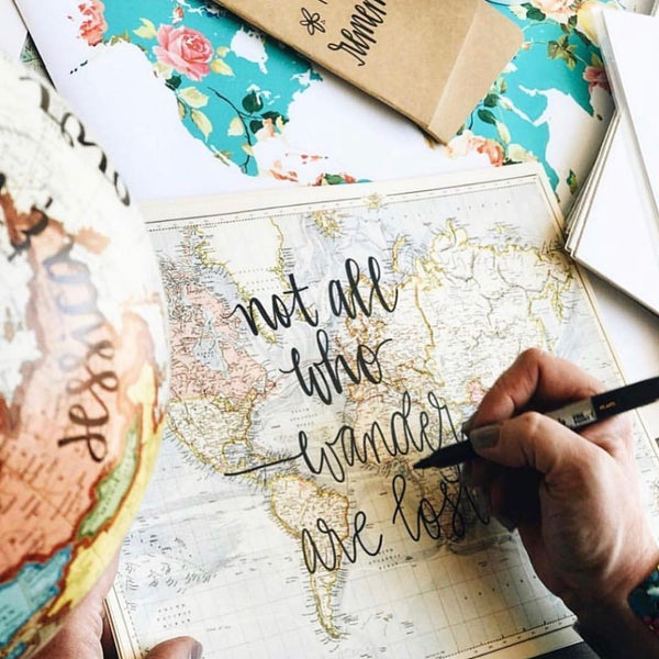 Hand Lettered Maps