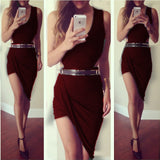 Sleeveless Asymmetrical Party Dress Hot Sale - Lupsona