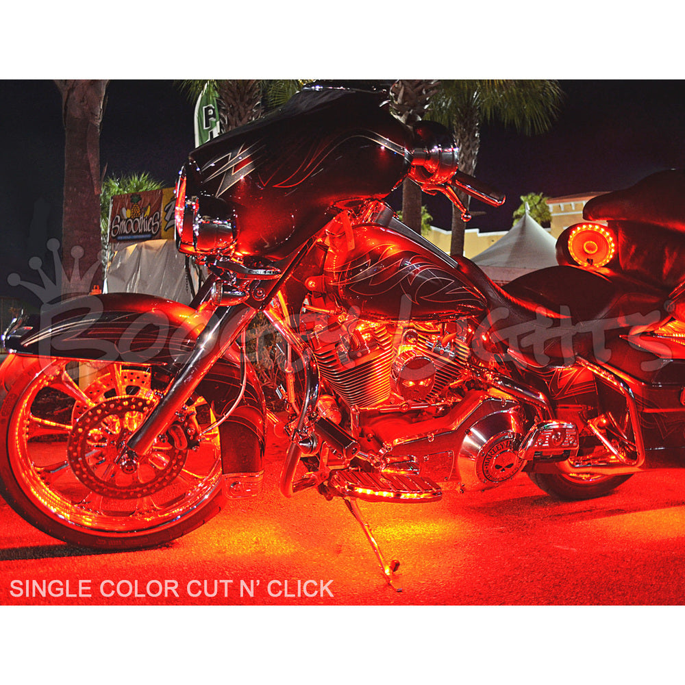 Cut N' Click™ Single Color Touring/Bagger Motorcycle LED Light Kit