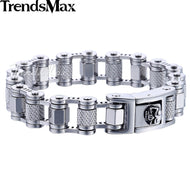 Stainless Steel Motorcycle Chain Link Men's Bracelet