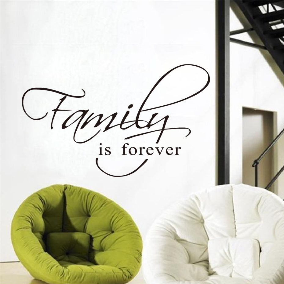 Family Is Forever Quote Decal