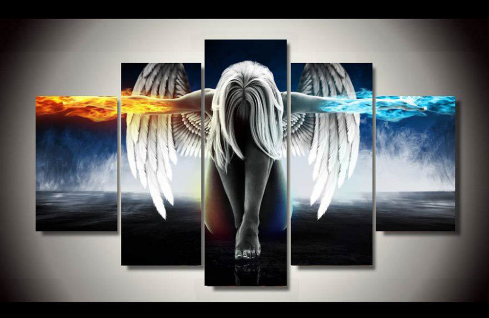 5 Piece Angel Goddess Canvs Art