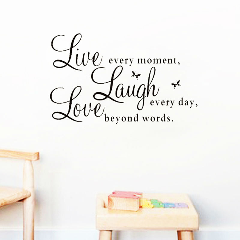 """Live Laugh Love"" Quote Wall Decal"
