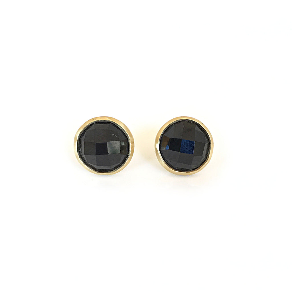 9ct Yellow Gold & Round Spinel Studs