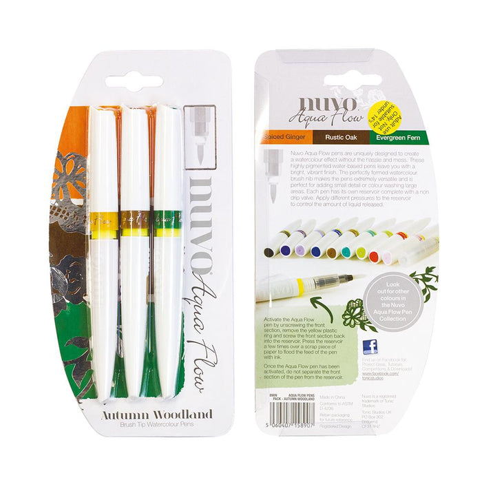 Nuvo - Aqua Flow Pens - Autumn Woodland - 890n - tonicstudios