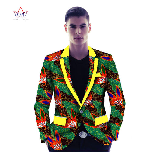 African Print  Men's Suit Jacket - B&R African Styles