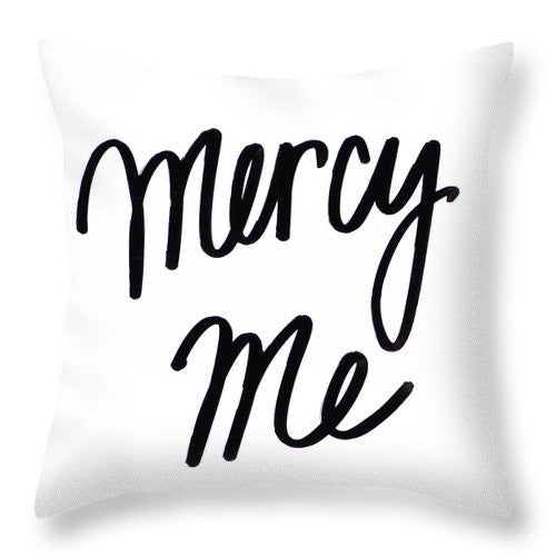 Mercy Me Throw Pillow by aaart - art inspired decorative throw pillows