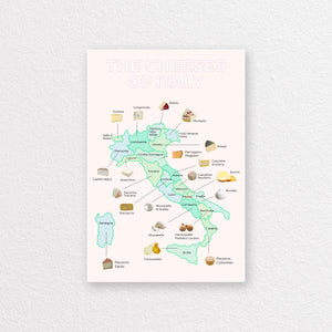 The Cheeses of Italy Print