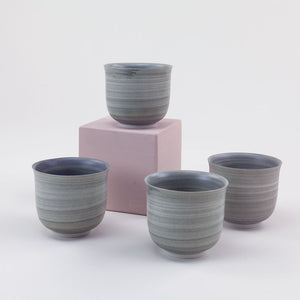 Watercolor Tea Cup Set (Set of 4)