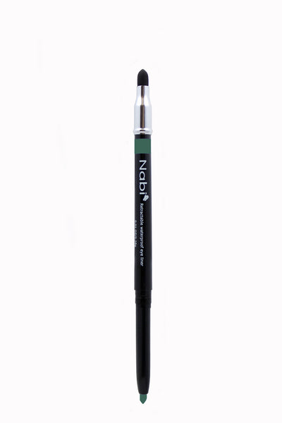 PE10 - Retractable Auto Eye Pencil with Sponge Lime