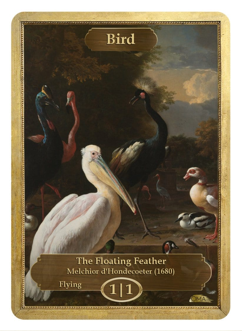 Bird Token (1/1) by Melchior d'Hondecoeter