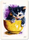 Cat Token (2/2) by Ken Meyer Jr. - Token - Original Magic Art - Accessories for Magic the Gathering and other card games