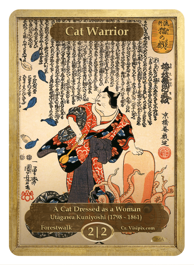 Cat Warrior Token (2/2 - F) by Utagawa Kuniyoshi
