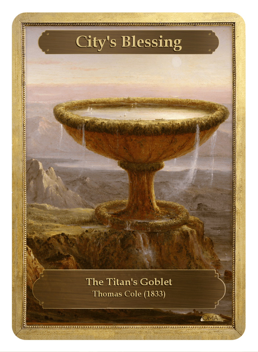City's Blessing Counter by Thomas Cole