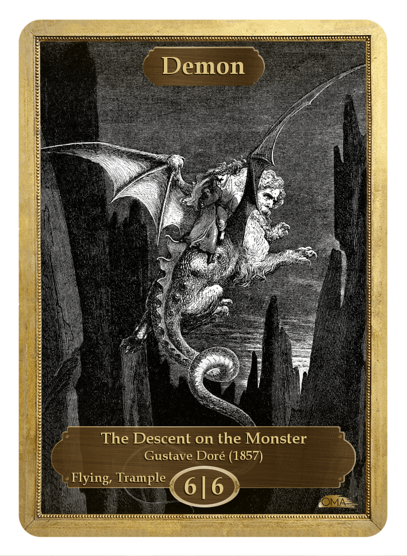Demon Token (6/6-F,T) by Gustave Dore