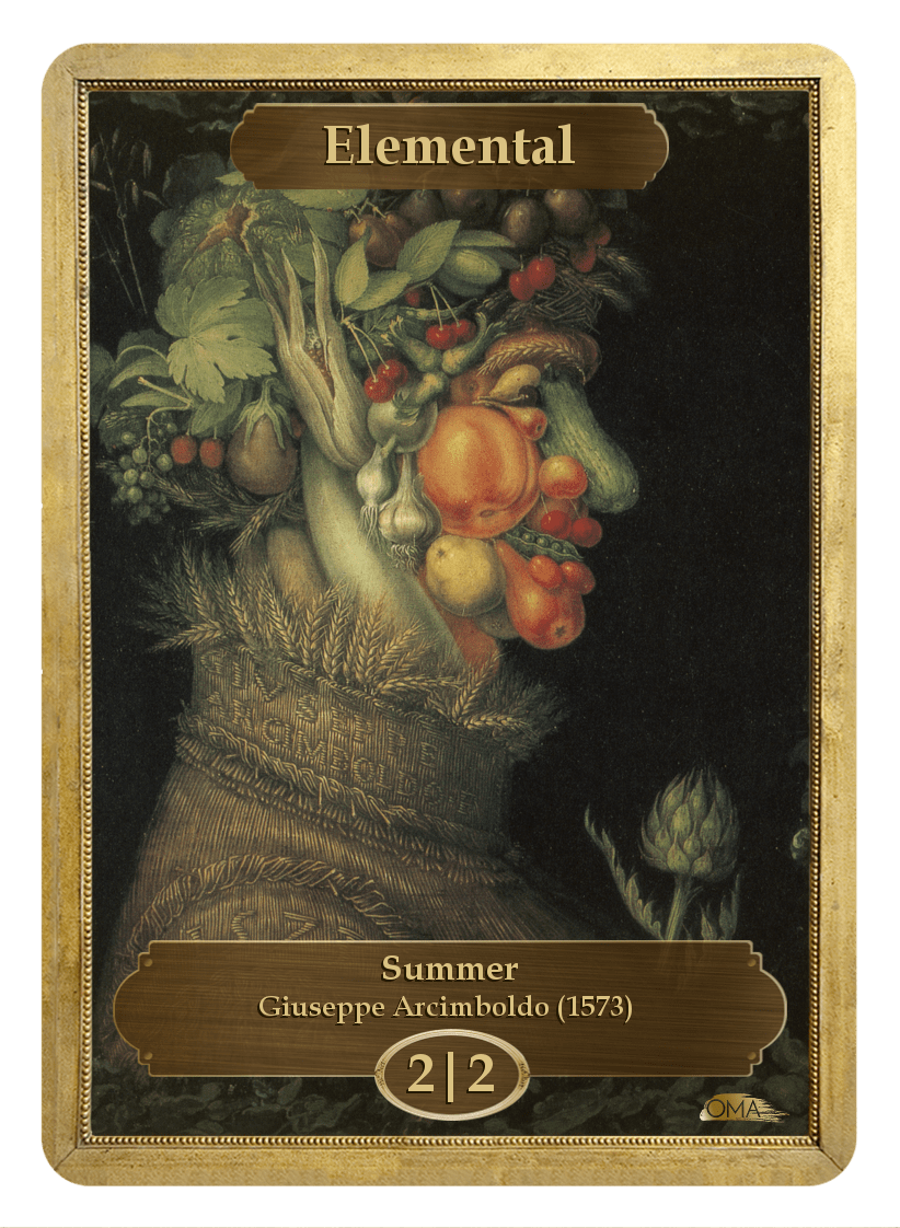 Elemental Token (2/2) by Giuseppe Arcimboldo