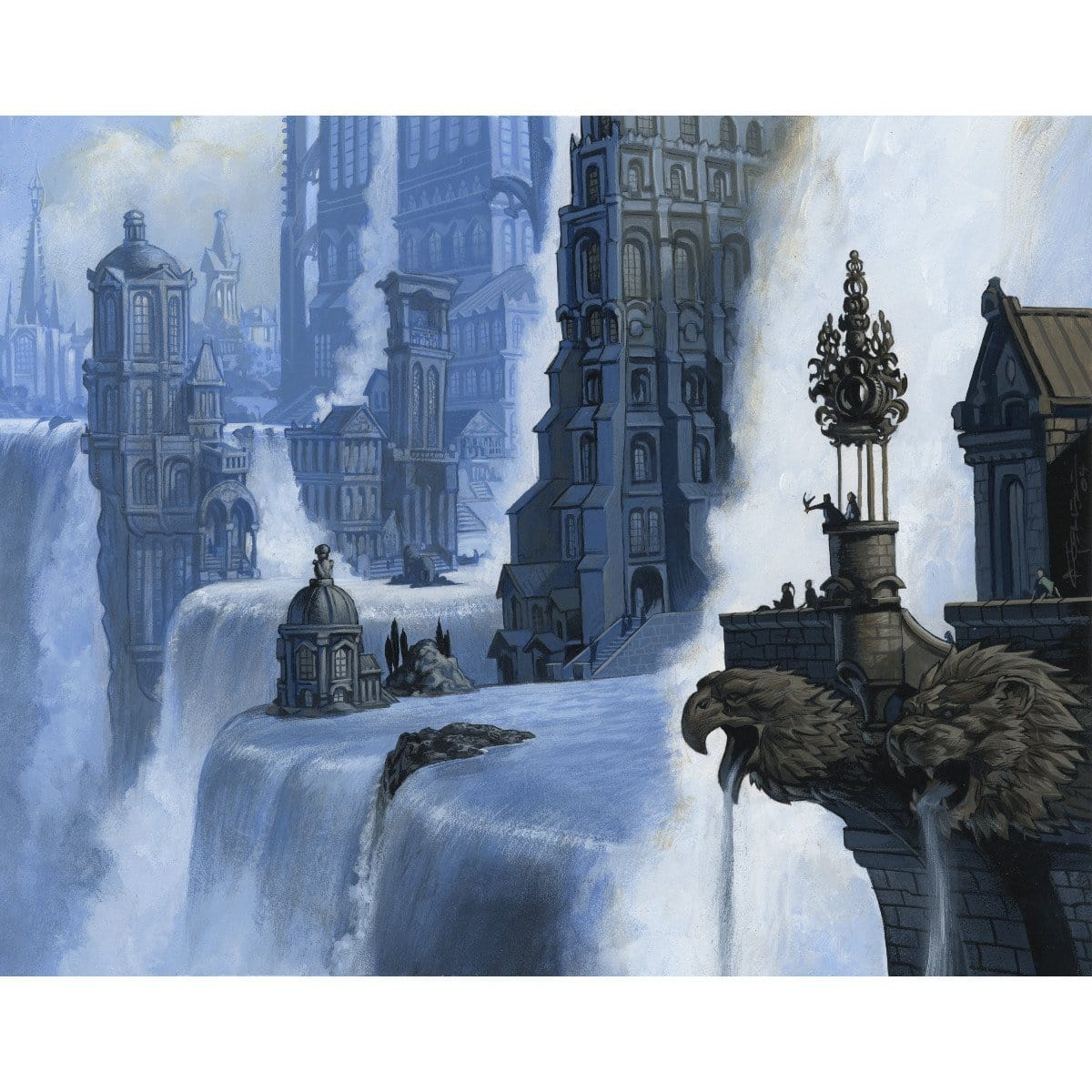 Island (Ravnica) Print - Print - Original Magic Art - Accessories for Magic the Gathering and other card games