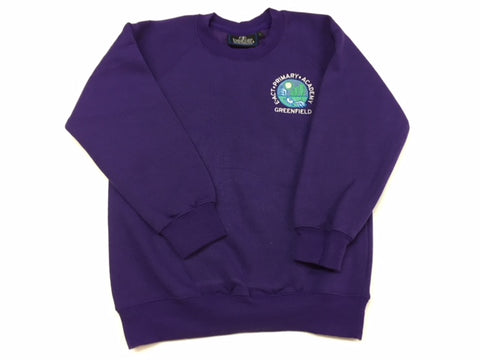 Purple Embroidered Sweatshirt (GA)