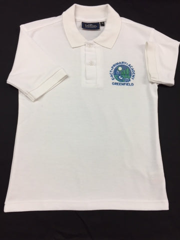White Embroidered Polo Shirt (GA)