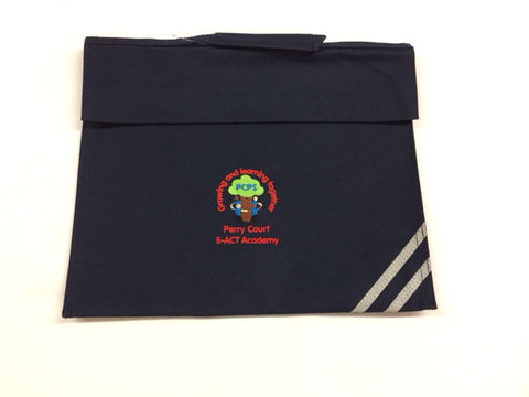 Navy Embroidered Book Bag (PCA)