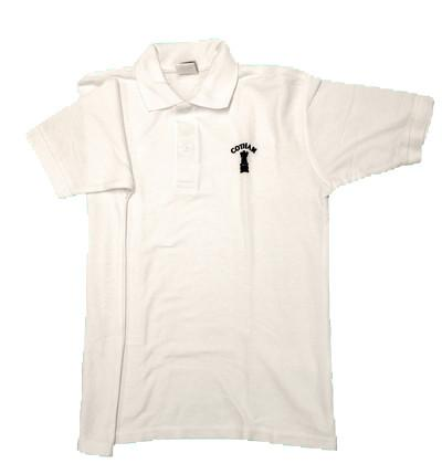 White School Embroidered Polo Shirt - Year 11 Only (CS)