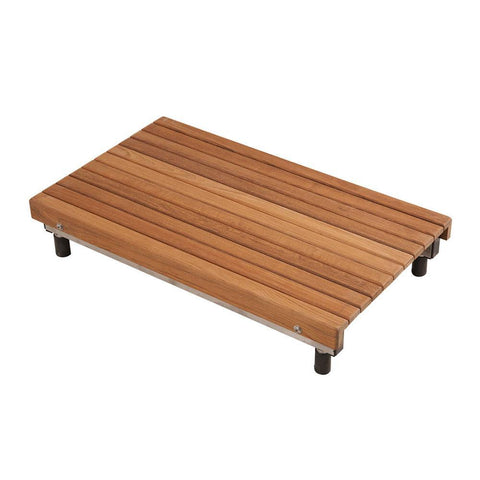 "27"" Teak Removeable Bathtub Bench Seat - American Teak"
