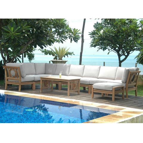 10 Piece Natsepa Modular Deep Seating Sectional Sofa Set Set-137 - American Teak