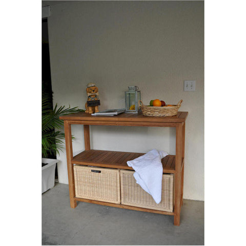 Anderson Teak Wicker Baskets for Towel Console TB-4720 (1 pair) - American Teak