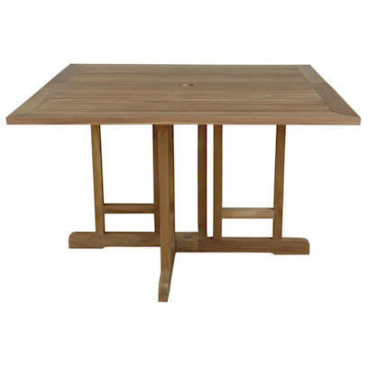 "Anderson Teak Montage 47"" Butterfly Square Folding Table - American Teak"