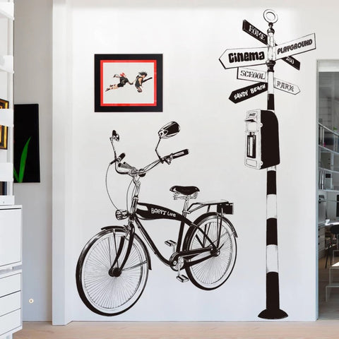 Bike Wall Decals-Road Sign Wall decals