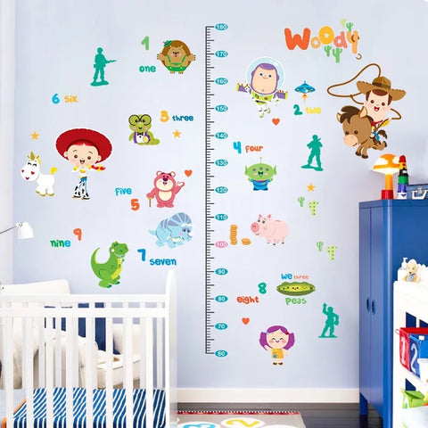 Toy Story Height Chart Wall Decals