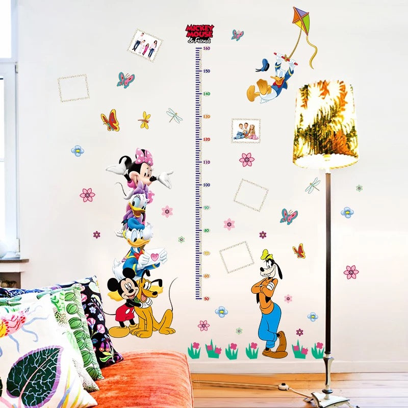 Mickey & Friends Height Chart Wall Decals