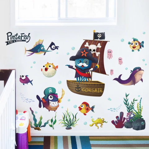 Pirate Fish Wall Decals